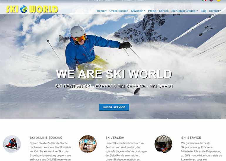 Ski Rental Ski World
